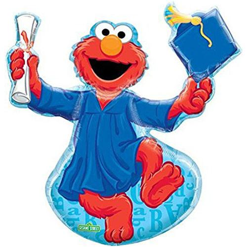 500x500 Elmo Sesame Street Balloon Graduation Super Shape Foil 32