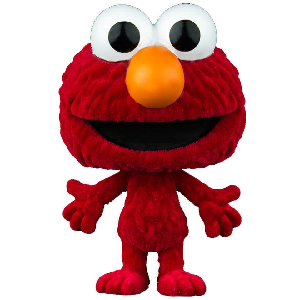 960x960 Sesame Street Elmo Flocked Pop! Vinyl Pop In A Box Us