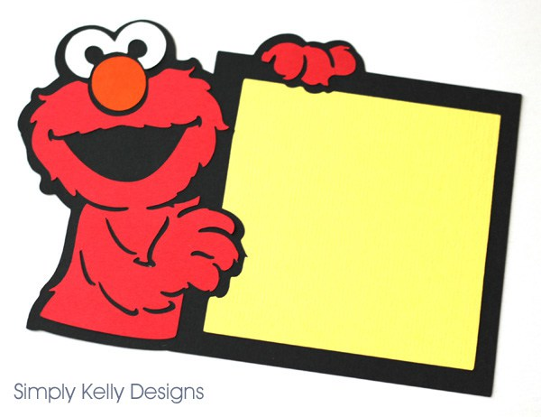 600x462 Standup Elmo Card Using A Cricut Simply Kelly Designs