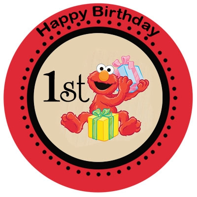 400x400 Birthday Invitation Card Elmo 1st Birthday Invitations
