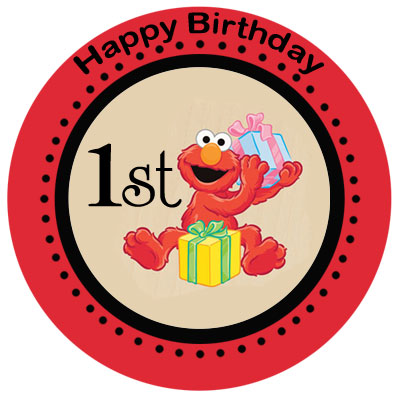 400x400 Elmo 1st Birthday Clipart