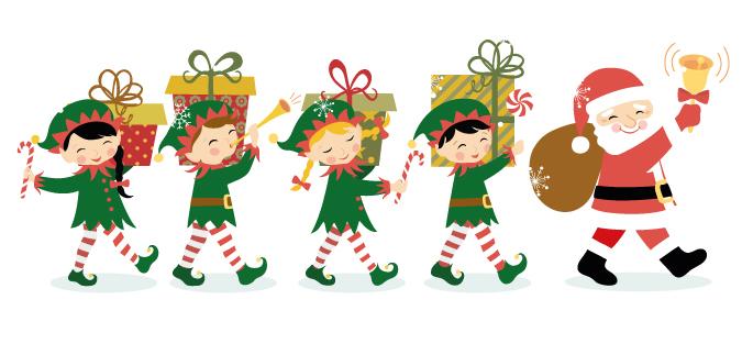 675x313 Elf Clipart Santa's Workshop