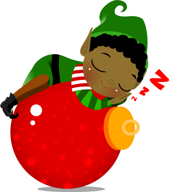 340x386 Elf Clipart Tired