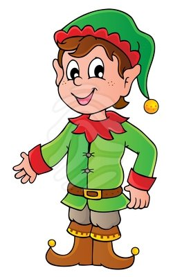 250x400 Boy Elf Elf Clip Art Merry Christmas Amp Happy New Year Arts