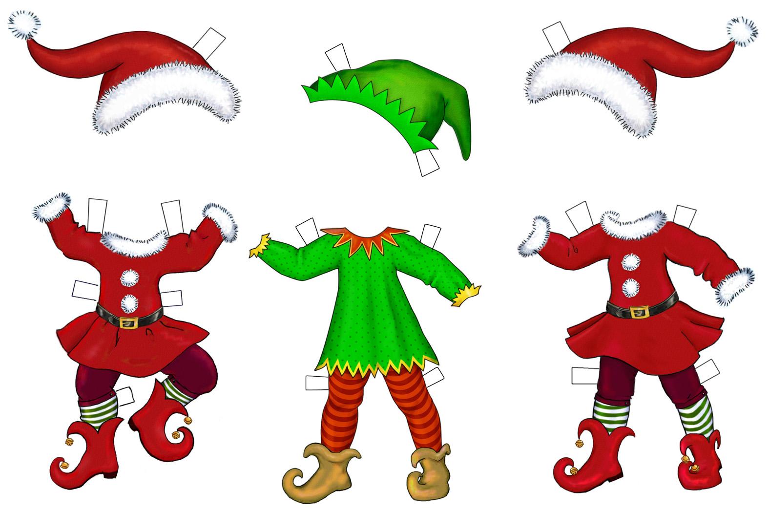 1575x1050 Cartoon Christmas Elves Clipart