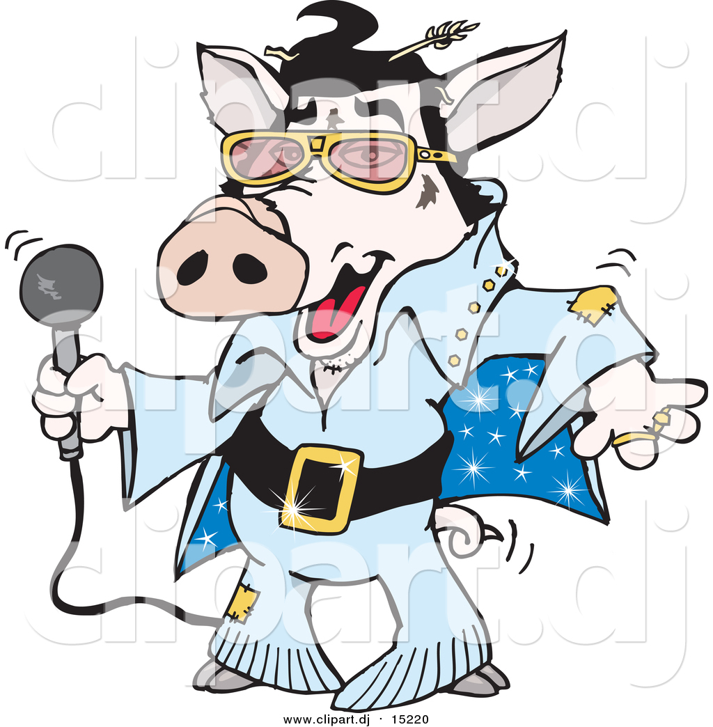 1024x1044 Cartoon Vector Clipart Of A Elvis Pig Dancing And Shaking By