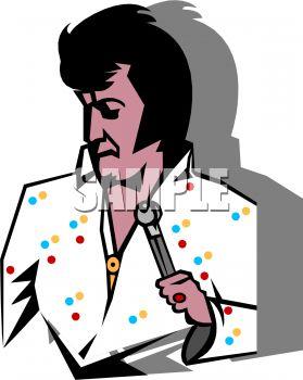 279x350 Cartoon Of An Elvis Singer