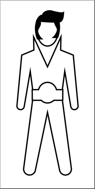 304x604 Clip Art People Elvis (Bampw) I Abcteach