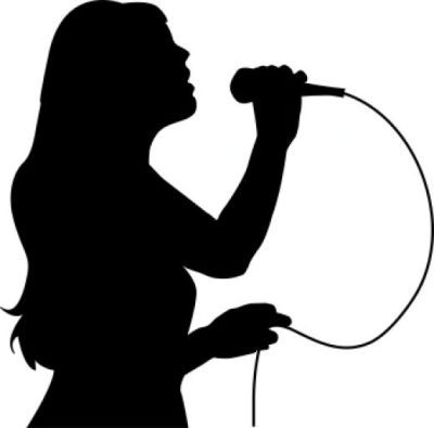 400x395 Singer Microphone Clipart Black And White Amp Singer