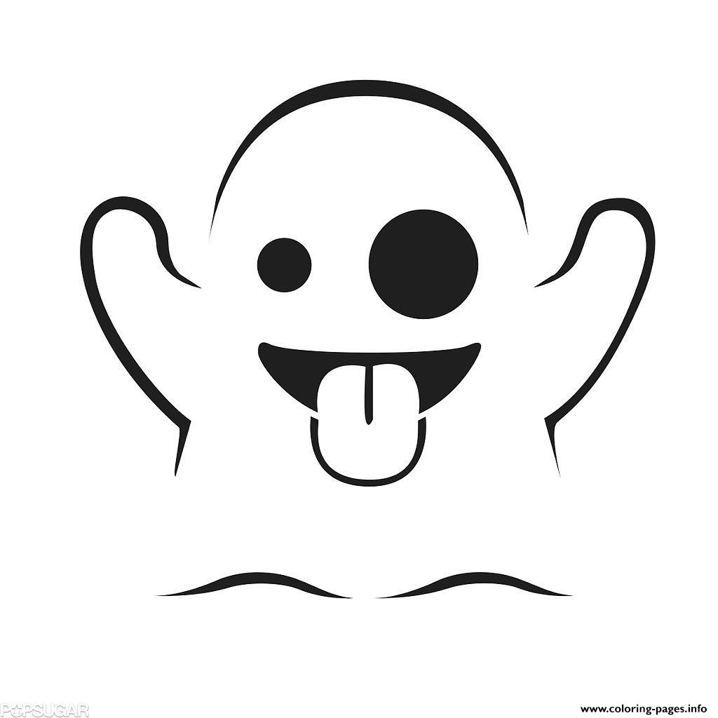 1024x1024 Emoji Ghost Coloring Pages Printable
