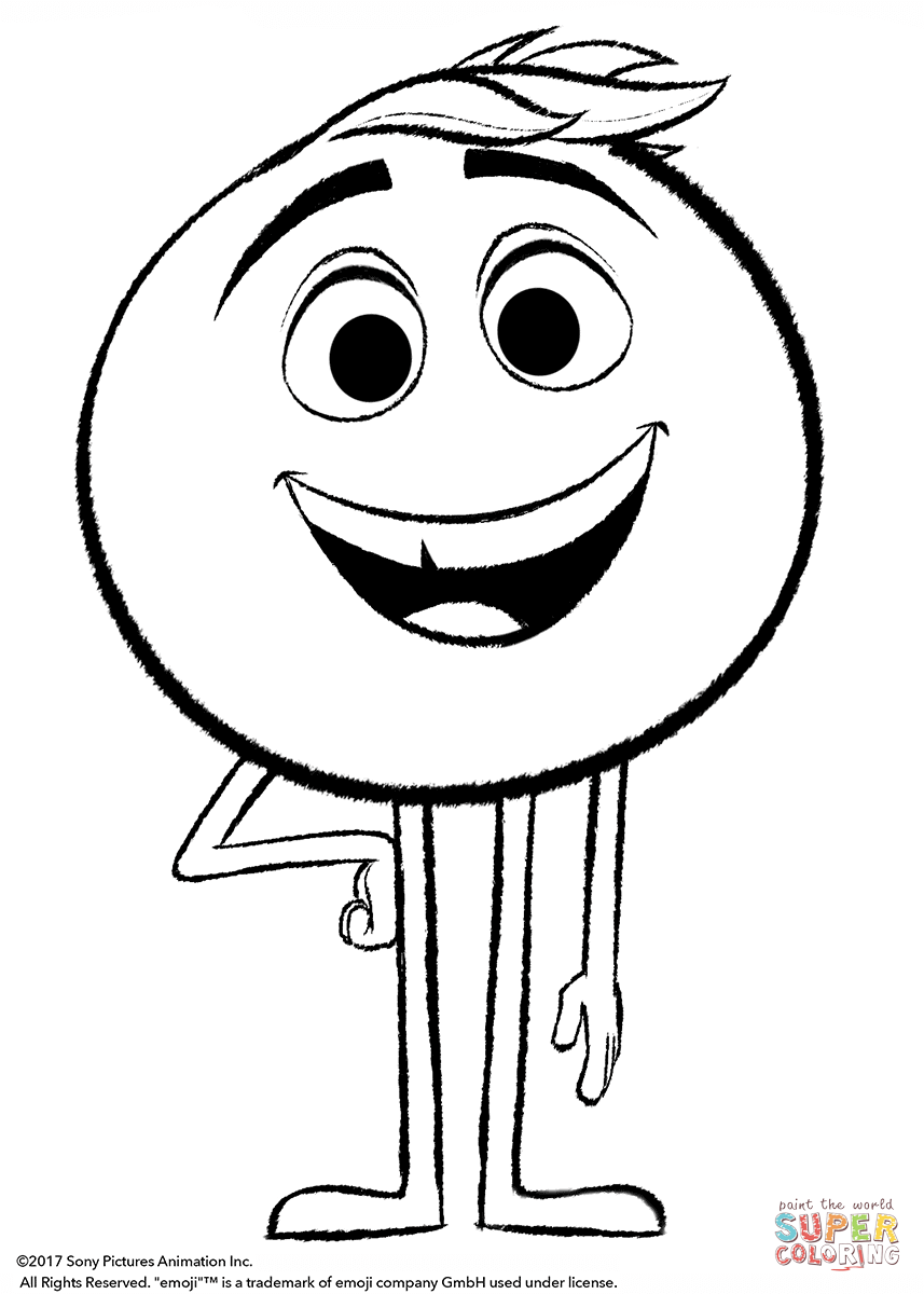 857x1200 Gene From Emoji Movie Coloring Page Free Printable Coloring Pages