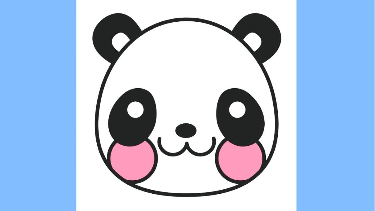 1280x720 How To Draw A Cute Panda Emoji