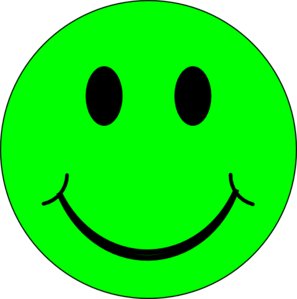 297x299 Green Smiley Face Clipart