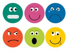236x175 Digital Clip Art Colorful Emotion Faces By Rebeccaldesign On Etsy
