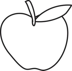 300x298 Apple Black And White Black And White Apple Clip Art