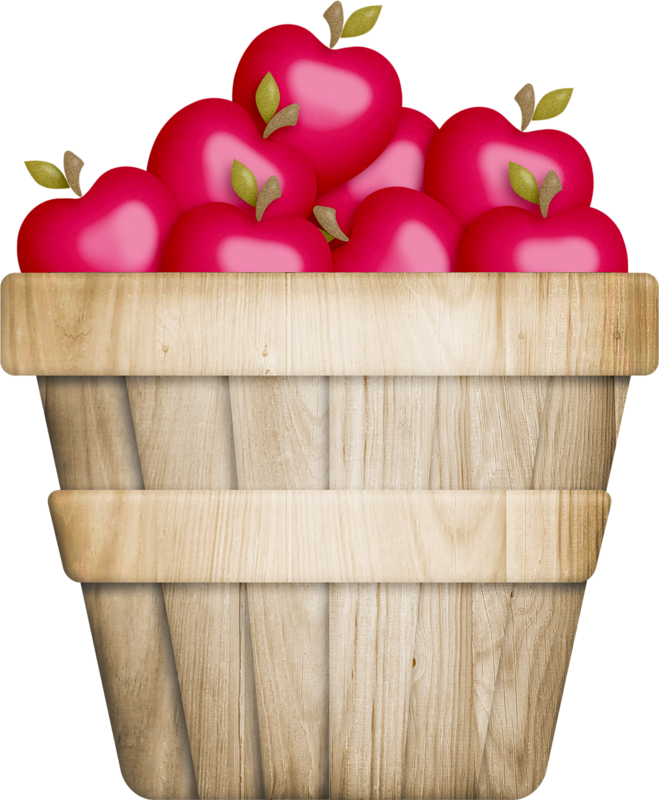 659x800 Basket Of Apple Clipart
