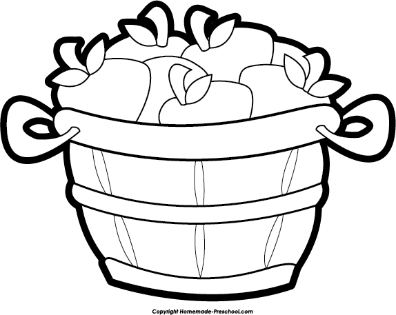 574x457 Drawn Basket Apple Clipart Black And White