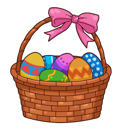 424x453 Easter Clip Art Basket Clipart
