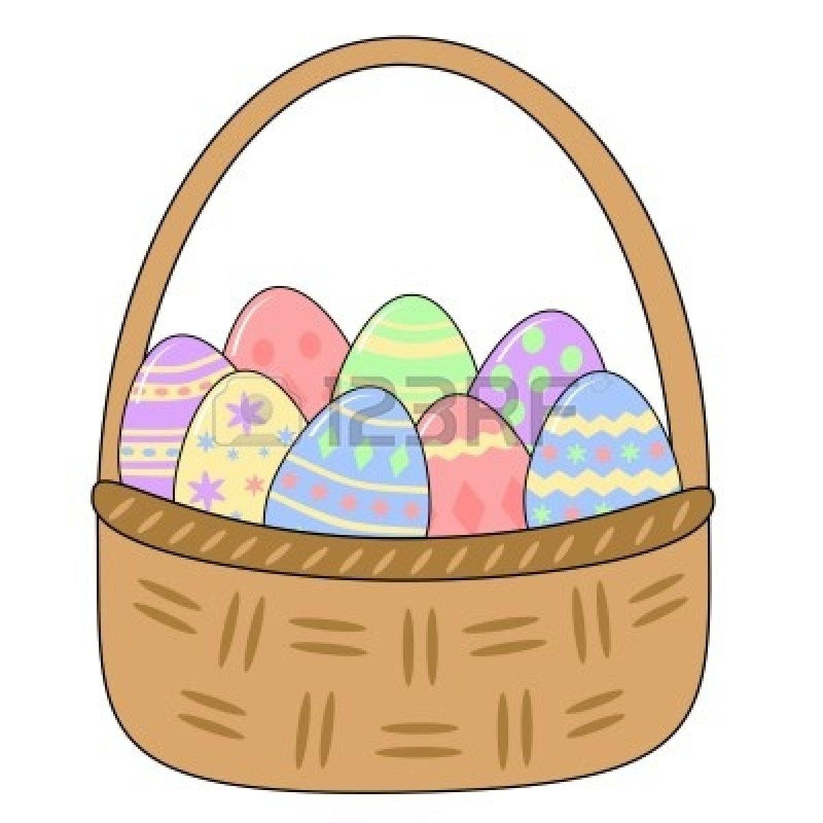 1200x1200 Egg Basket Clipart