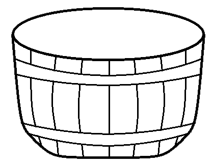 416x320 Empty Apple Basket Clipart