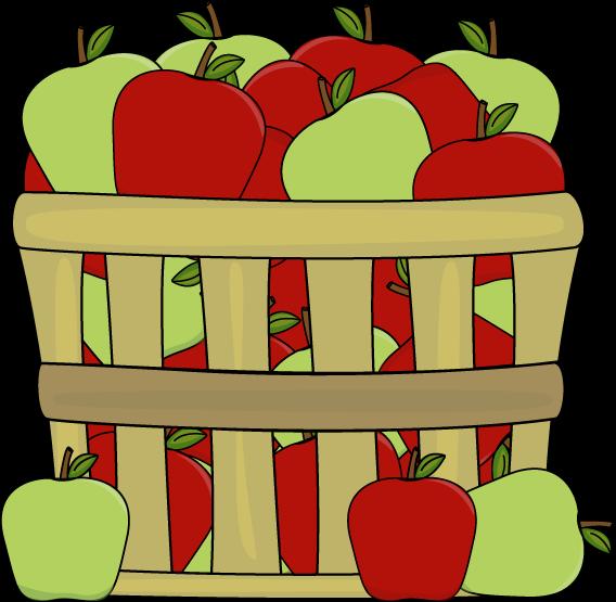 568x555 Empty Apple Basket Clipart Clipart Panda