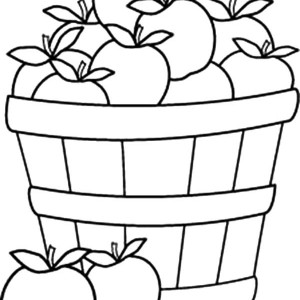 300x300 Empty Basket Coloring Page Free Download