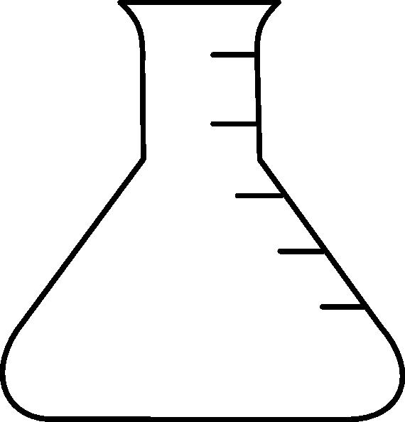 570x594 Empty Beaker Drawing