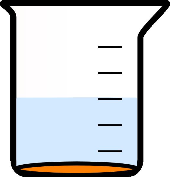 576x600 Orange Empty Beaker Clipart