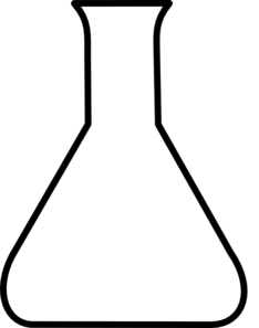 234x297 Black Empty Flask Clip Art