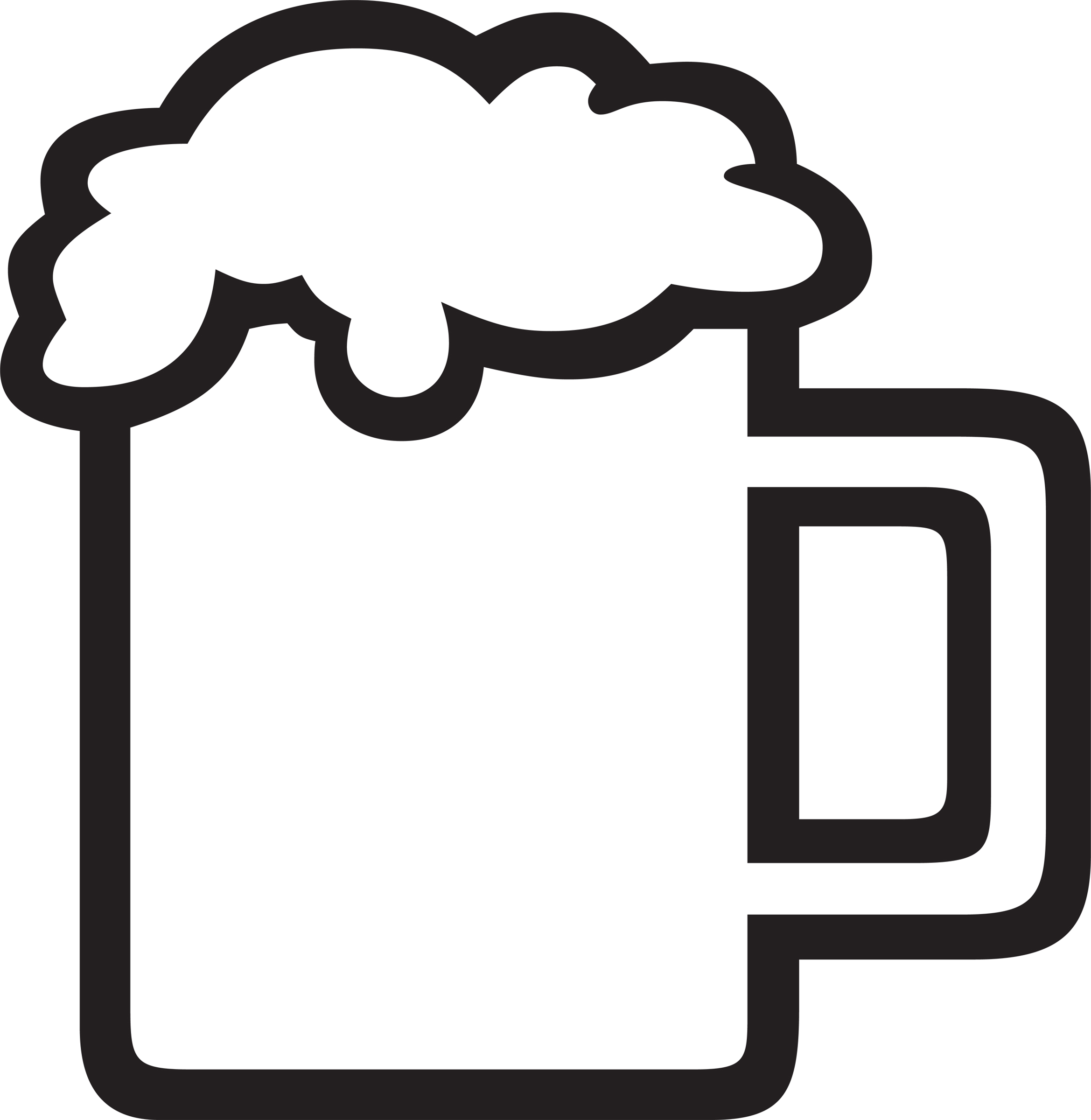 2338x2400 Empty Beer Mug Clipart