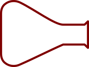300x228 Empty Flask Clip Art