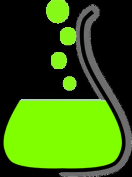 447x600 Green Beaker Clipart