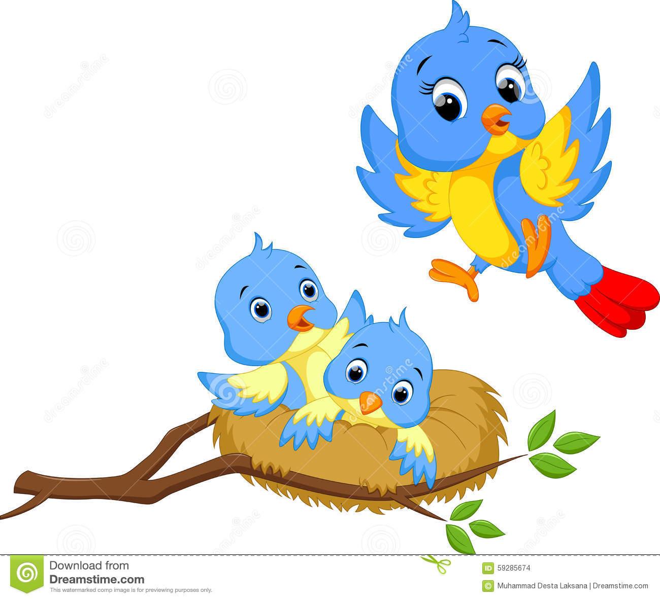 1300x1183 Cartoon Bird Nest Kids Coloring