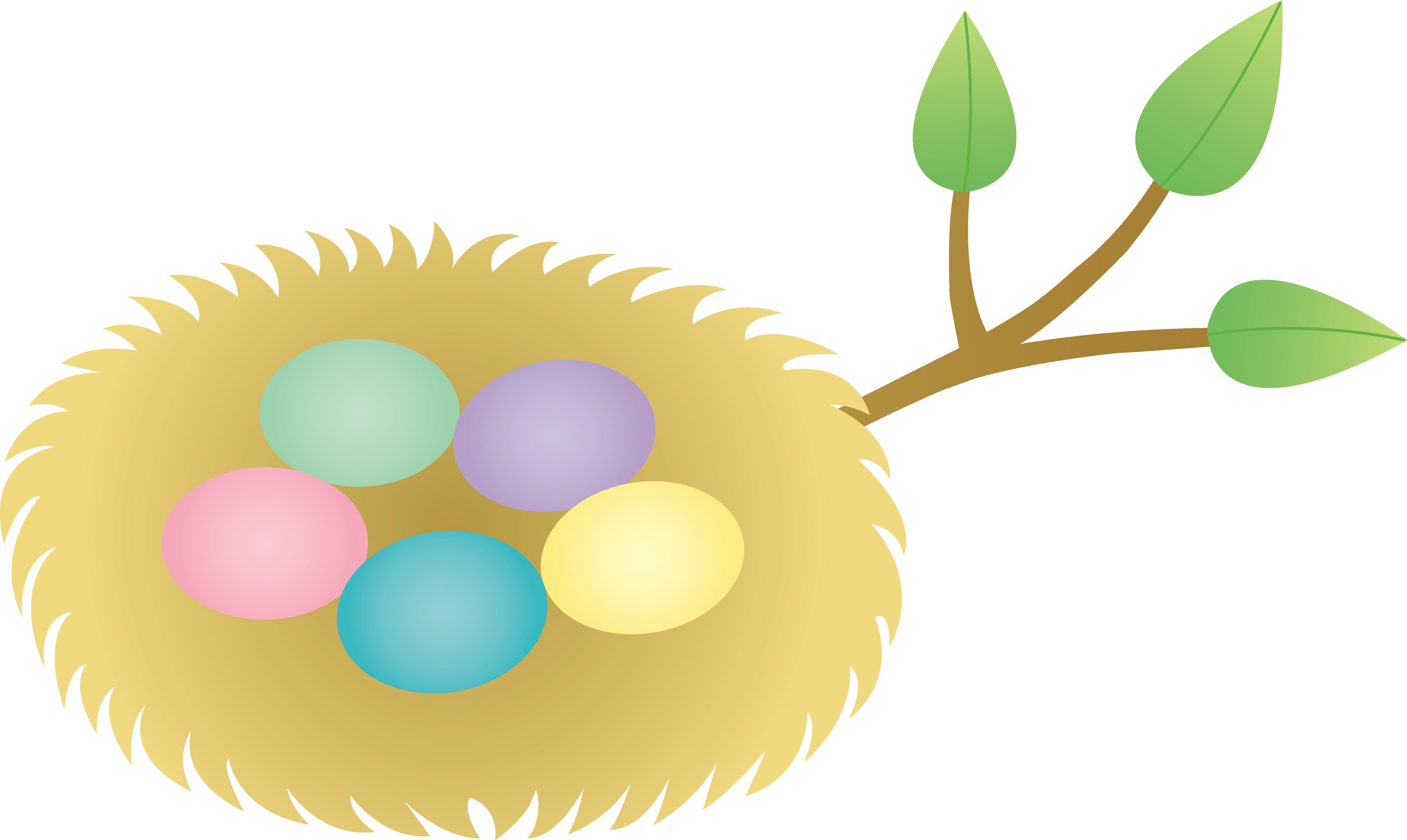 6408x3828 Nest Clipart Animated