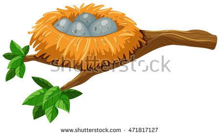 450x280 Starling Clipart Bird Nest