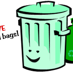 300x300 Trash Can Go Green Clip Art Set Trash Cans And Recycling Bins