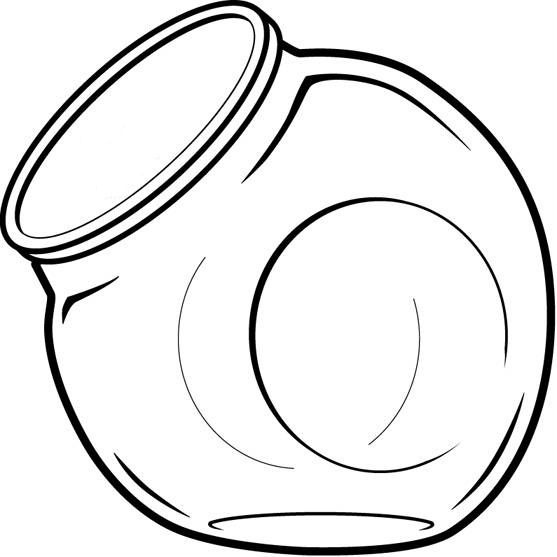 Candy jar clip art print coloring pages ~ Empty Cookie Jar Clipart   Free download best Empty Cookie ...