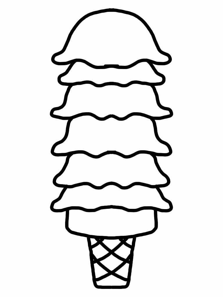 768x1024 Cone Clipart Coloring Page