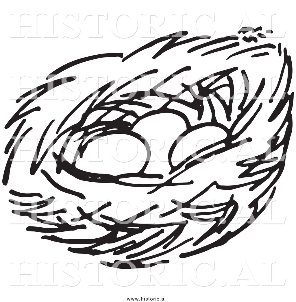 1024x1044 Empty Nest Clipart Black And White Letters Example