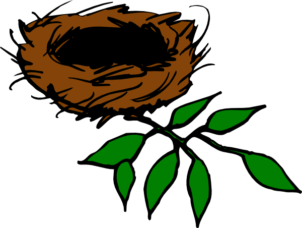 600x452 Nest With Leaves Clip Art
