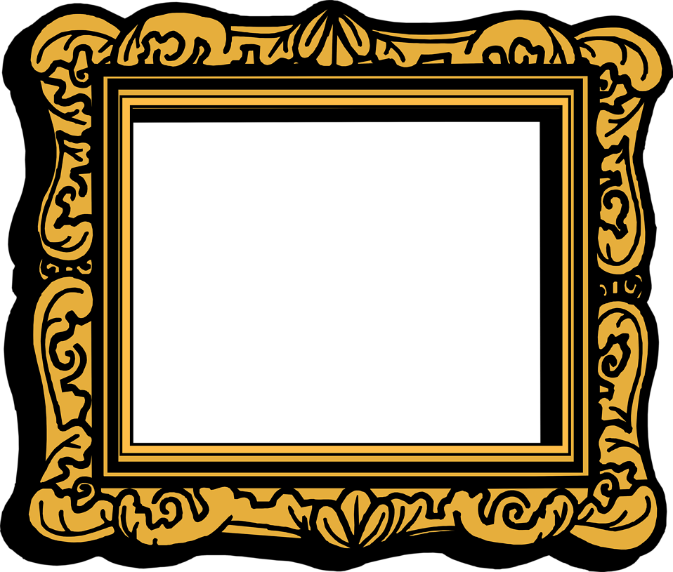 958x815 Empty Picture Frame Clip Art