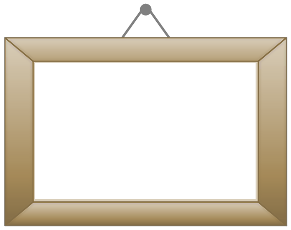 600x474 Empty Picture Frame Clipart