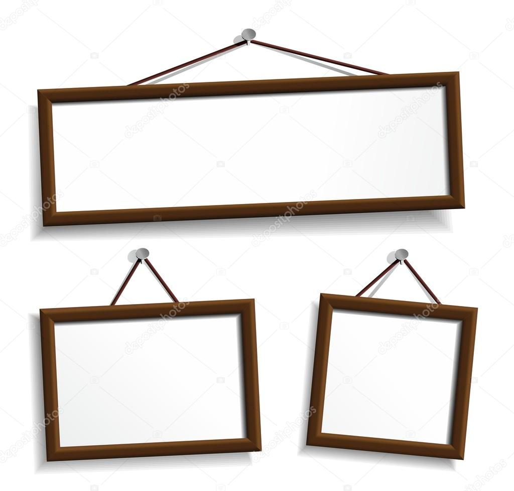 1024x977 Empty Frames For Your Presentation Stock Vector R.hilch