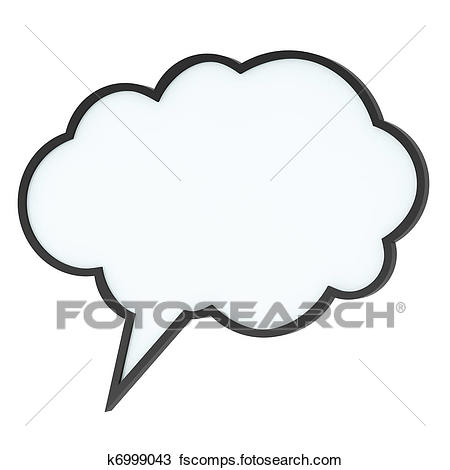 450x470 Drawing Of Empty High Quality Speech Bubble Or Tag Cloud K6999043