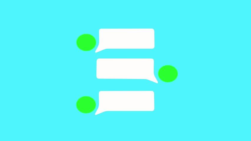 852x480 Empty Speech Bubble In Messenger, Text Message. Talk To Messenger