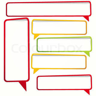 320x320 Labels In The Form Of An Empty Frame For Your Text Stock Vector