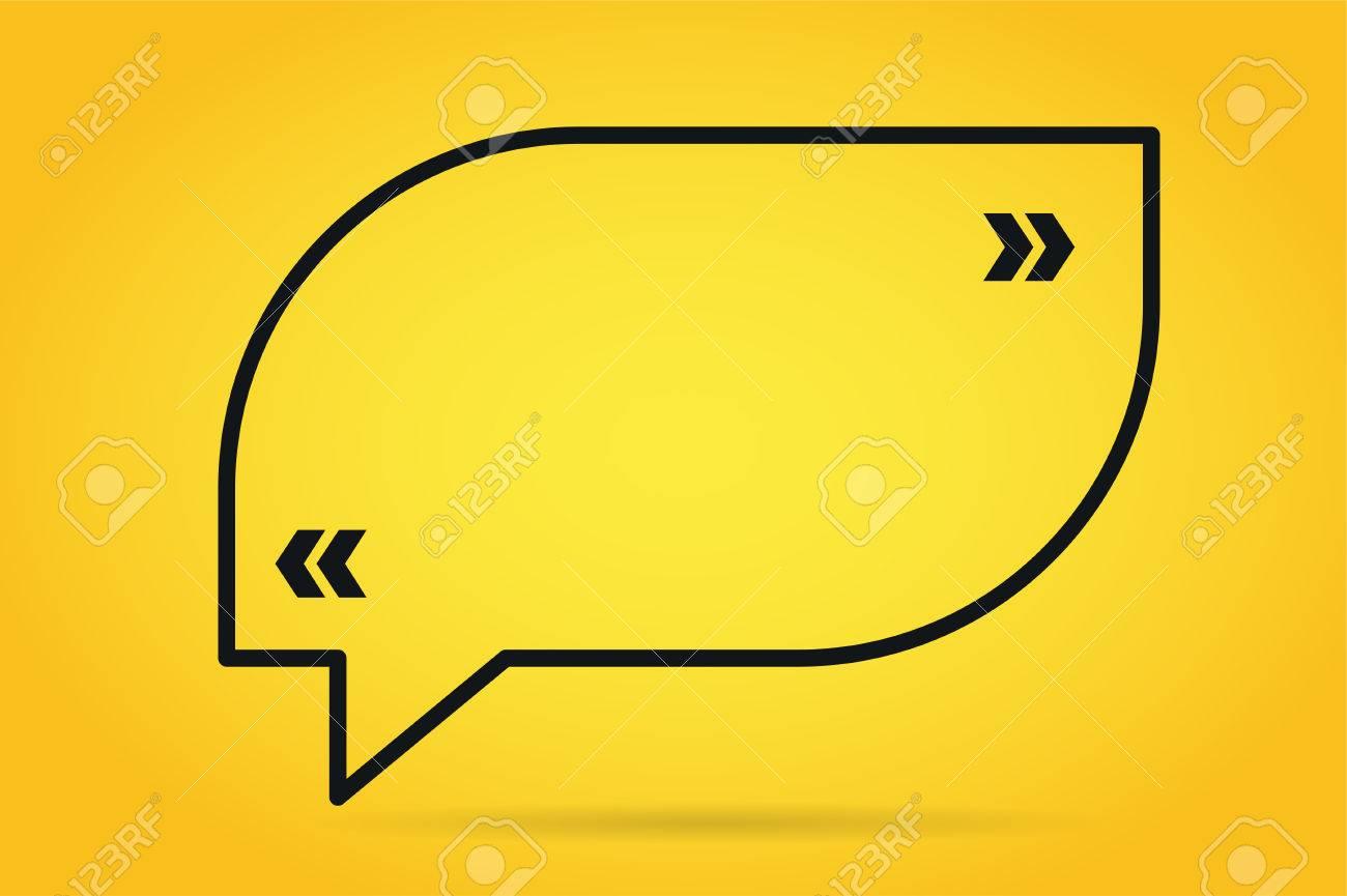 1300x865 Quote Bubble Vector Blank Template. Quote Bubble Icon. Empty