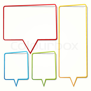 320x320 Speech Bubble In The Form Of An Empty Frame For Your Text Stock