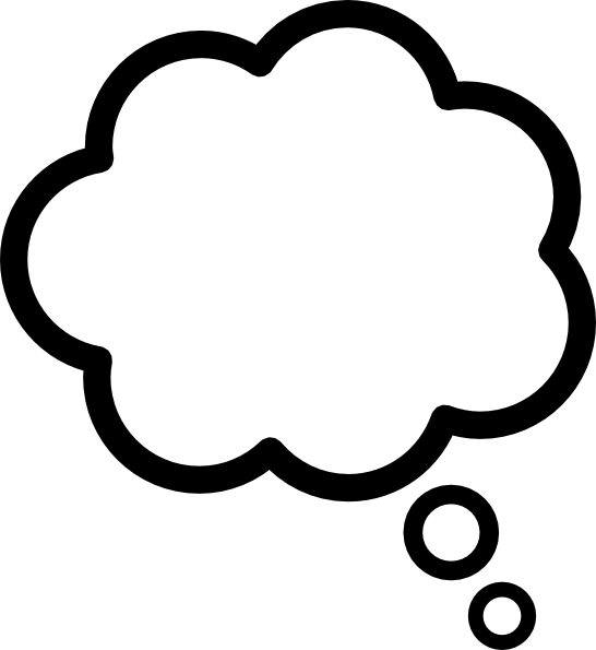 546x595 Thought Cloud Clip Art
