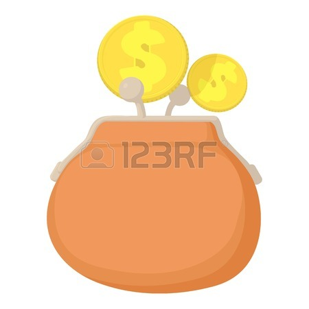 450x450 Empty Wallet Icon. Cartoon Illustration Of Empty Wallet Vector